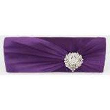 Purple Satin Clutch Bag