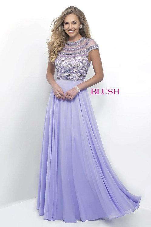 Chiffon Keyhole Back Prom Dress