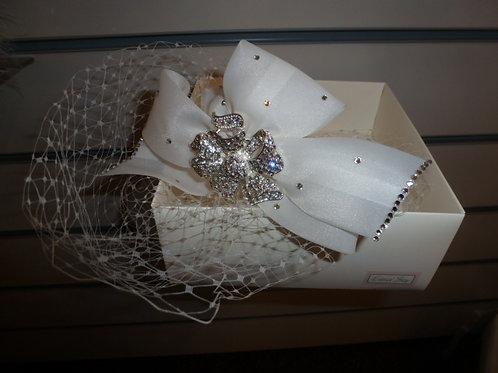 Bow Birdcage Veil