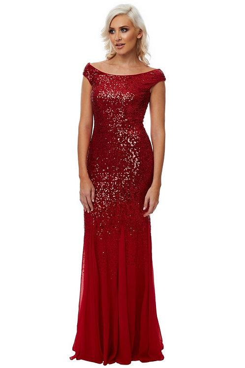 Stephanie Pratt Sequin and Chiffon Dress