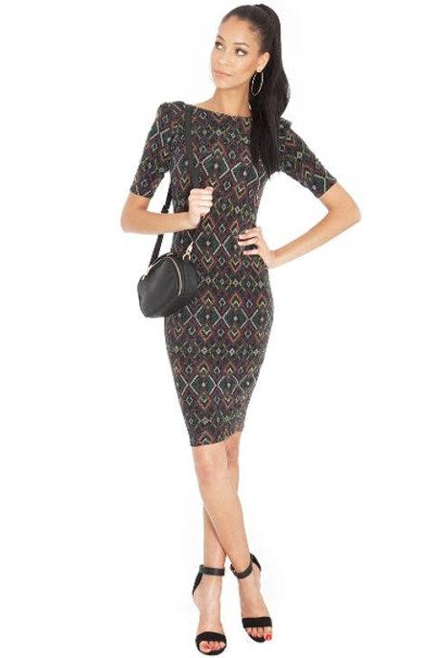 Aztec Style Midi Dress