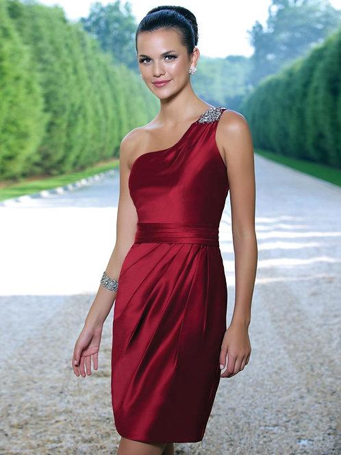 Embellished One Shoulder Occasion Dress