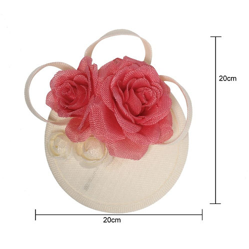 Pink and Ivory Fascinator