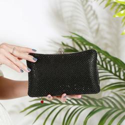 Black Hard Case Clutch Bag