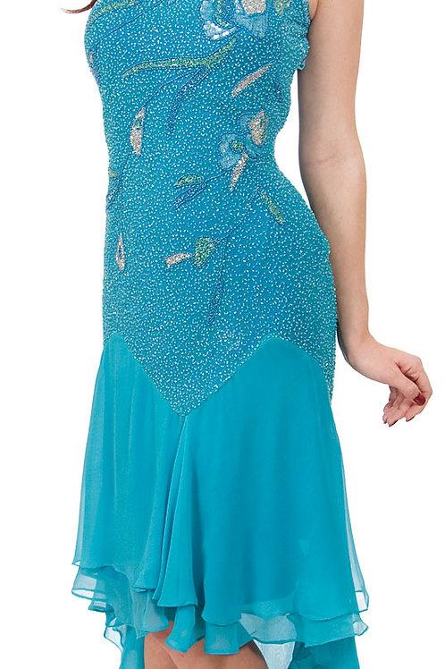 Silk Beaded Cocktail Dress