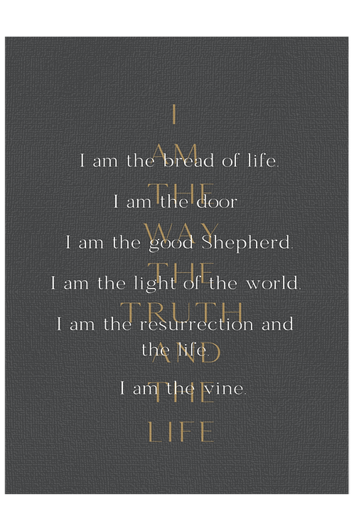I Am - Pewter and Gold