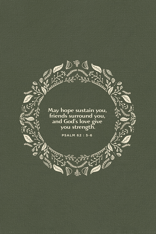 May Hope Sustain You - Moss Green Wreath