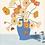 Thumbnail: Blue Vase of Posies
