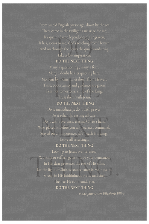 Do the Next Thing - Pewter with Eggshell Text