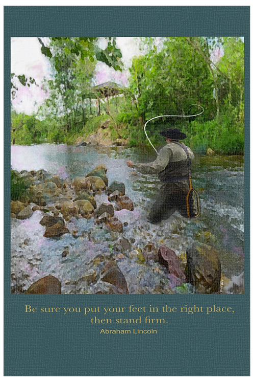 Stand Firm Fly Fisherman