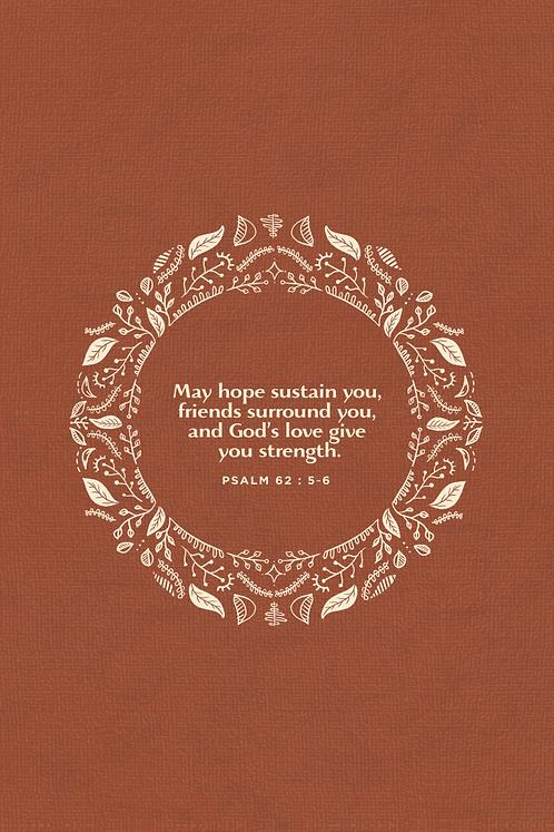 May Hope Sustain You - Pumpkin Wreath