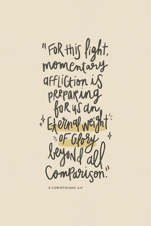 Eternal Weight of Glory: Hand-Lettered