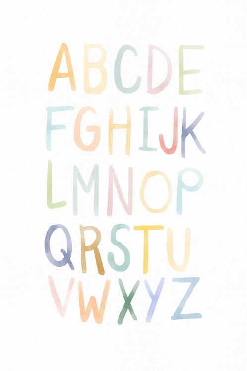 Whimsical Alphabet - Handlettered