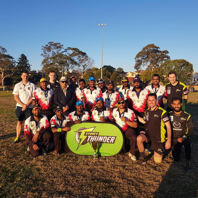 "Sydney Thunder host All Nations Social Cricket ""Don't Give Up, Give Back"" event"