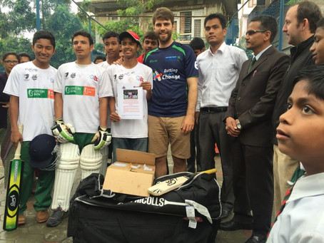 Batting for Change returns to the Heartland School, Nepal
