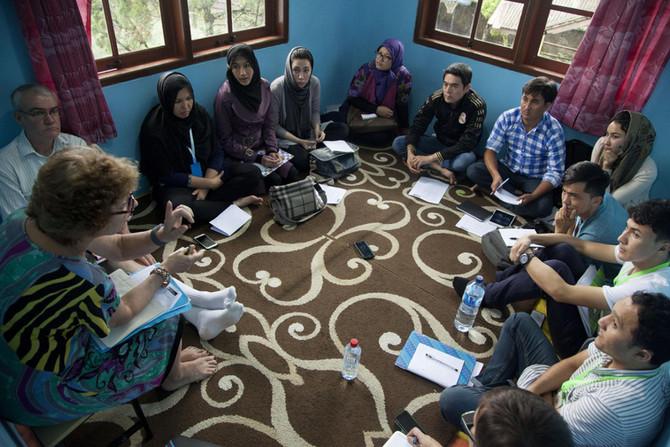 Refugee teacher training in Indonesia