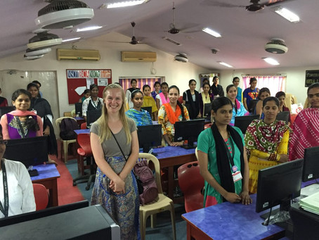 Gail Carters visits SPRJ Kanyashala Trust College, Mumbai
