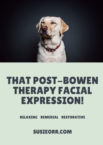 post-bowen therapy face!