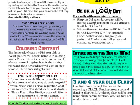 Beginning of the Year Newsletter
