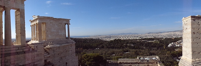 The Temple of Athene Nike, with Piraeus in the Background