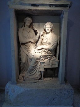Grave Stele of a Woman and her Maidservant, High Classical