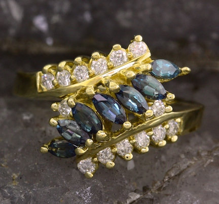 Alexandrite and Diamond Ring by Mark Henry