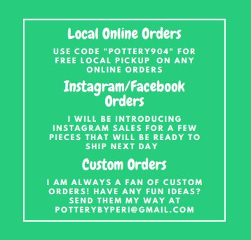 Pottery by Peri Updates!