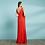 Thumbnail: Vestido longo moulage decote V
