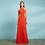 Thumbnail: Vestido longo xale removível
