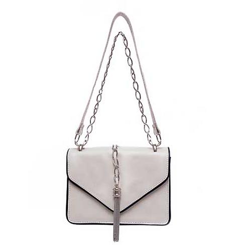 Bolsa satchel couro média Catarina