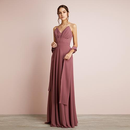 Vestido longo saia com movimento