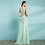 Thumbnail: Vestido longo decote drapeado