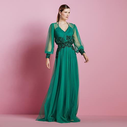Vestido longo tule leve blouse | 10x 574,70