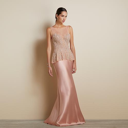 Vestido saia sereia Zebeline