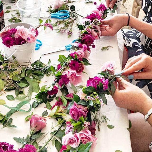 When I host a flower crown workshop I qu