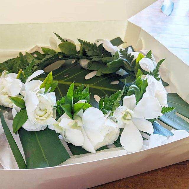 A flower crown from last weekend's Hawai