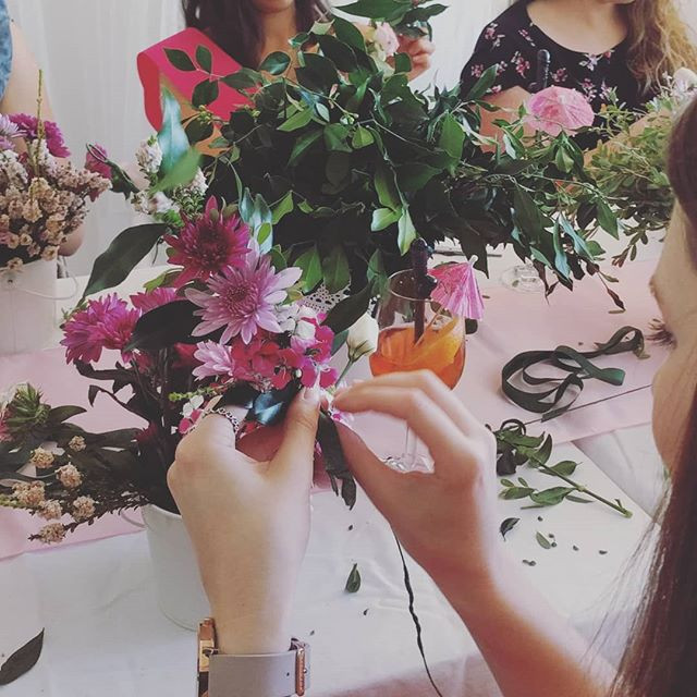 Weekends are for flower crown workshops