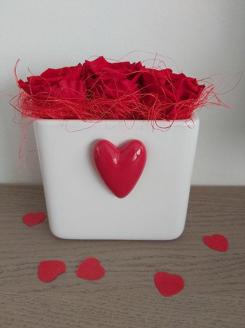 Valentijn groot potje met hartje