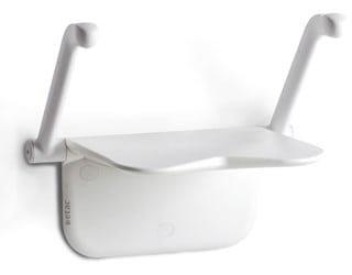 מושב רחצה  תלוי דגם רלקס עם ידיות מתקפלות