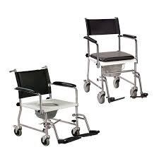 כסא שירותים פלדה כרום, מושב קשיח, גלגל קטן