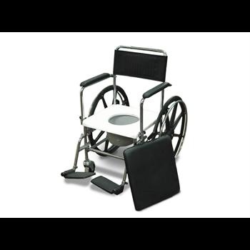 כסא שירותים פלדה כרום, מושב קשיח, גלגל הנעה עצמית
