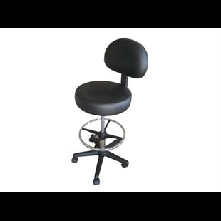 כסא מטפל עם גב עם חישוק MS-01