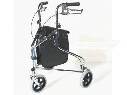 רולטור 3 גלגלים כסוף