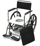 כסא רחצה ושירותים הנעה עצמית  נירוסטה