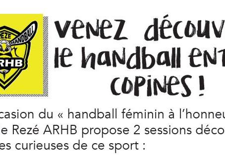 Session découverte handball féminin