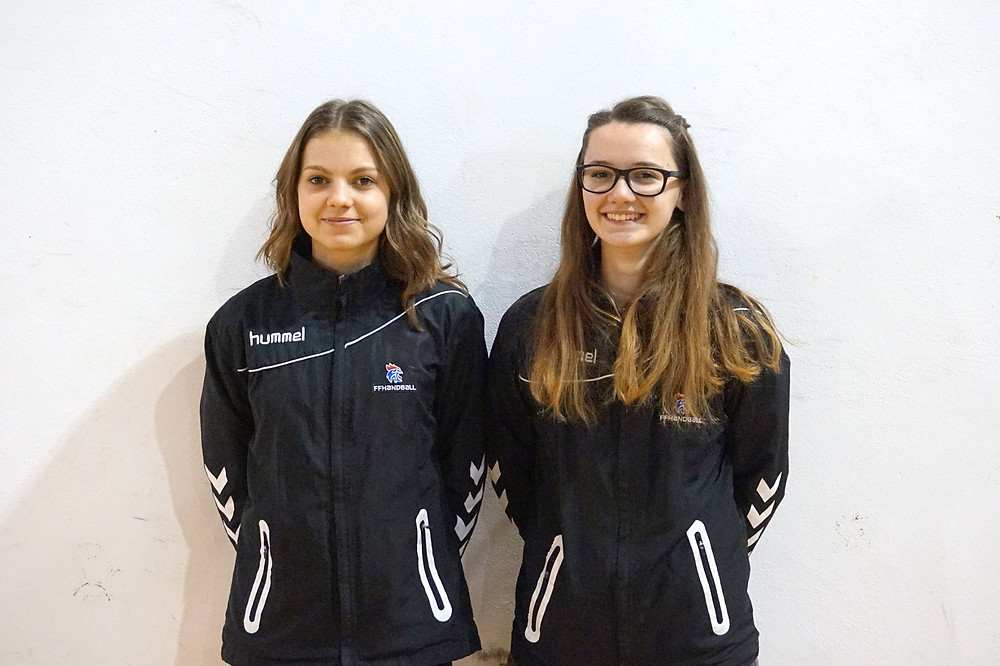 Lou-Ann COUSSEAU & Pauline AGULLO : arbitres aux Inter-Ligues de handball d'avril 2018.