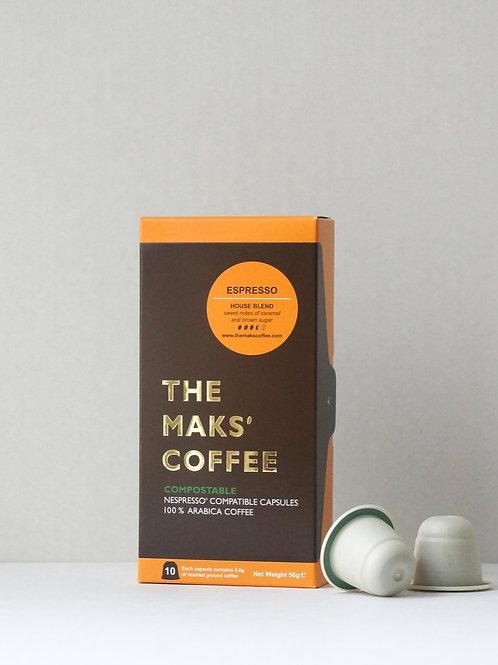 MAKSPRESSO - COMPOSTABLE COFFEE CAPSULES
