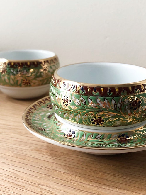 Hand Painted Cup & Saucer Christmas Series