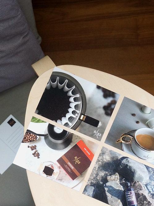 Coffee Postcard Set 4pcs