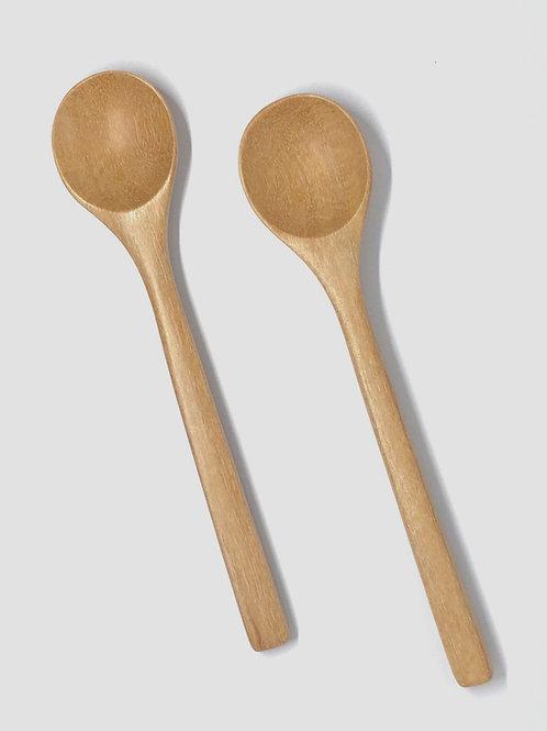 Nordic wooden teaspoons 2pcs